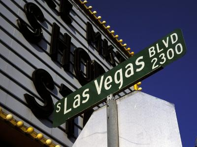 Street Sign for Las Vegas Boulevard, Las Vegas, Nevada