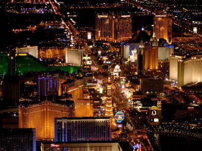 Scenic Aerial From Blimp, Las Vegas, Nevada