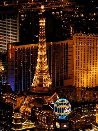 Scenic Aerial From Blimp, Las Vegas, Nevada