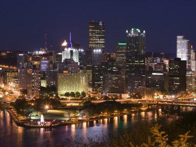 Golden Triangle Downtown Area from Mt. Washington, Pittsburgh, Pennsylvania