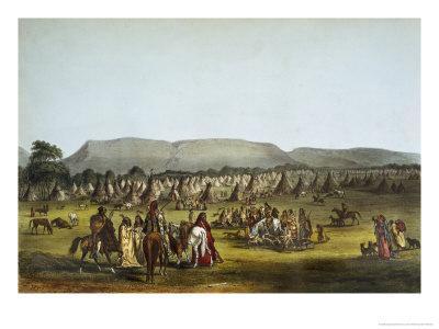 Encampment of Piekann Indians Near Fort Mckenzie