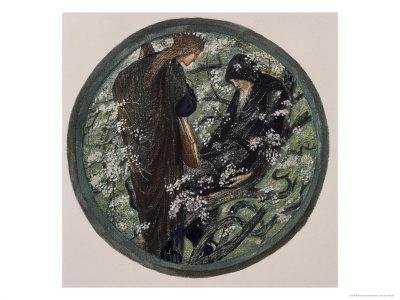 Witches Tree, Nimue Beguiling Merlin with Enchantment