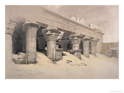 Portico of the Temple of Edfou, Egypt