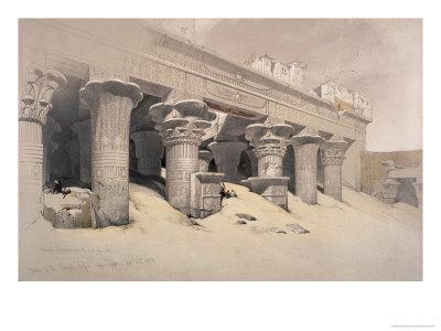 Portico of the Temple of Edfou, Egypt