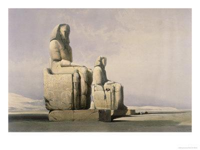 Thebes: the Colossal Statues of Amunoph III