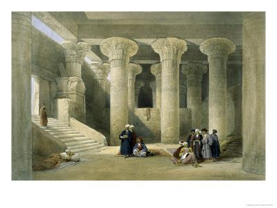 Interior of the Temple of Esne in Upper Egypt