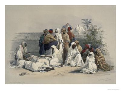 Group in the Slave, Market in Cairo, A