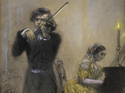 Violinist and Clara Schumann