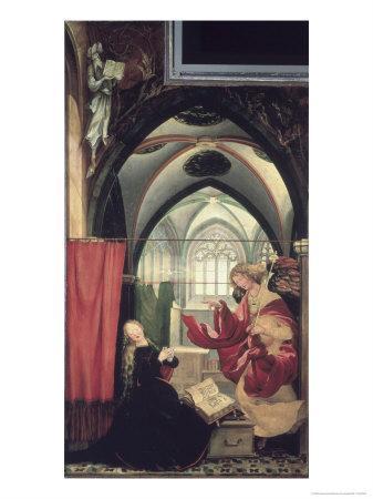 The Isenheim Altarpiece, Annunciation