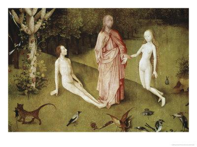 Detail of Garden of Earthly Delights, no.1, c.1505