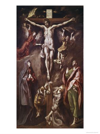 Crucifixion with Virgin, Magdalene, St. John and Angels