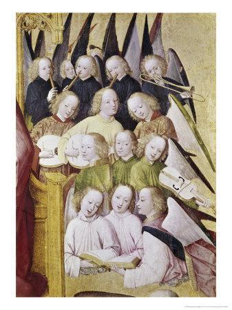 Detail of Life of the Virgin Choir of Angels