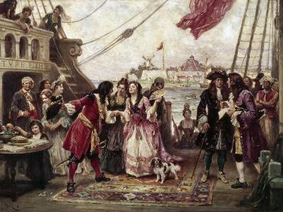 Captain William Kidd in New York Harbor