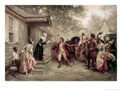 News of Yorktown, Brought to Washington's Mother