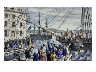 Destruction of Tea at Boston Harbor