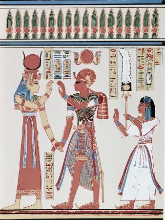 Amunkhepesef Tomb: Wall Paining
