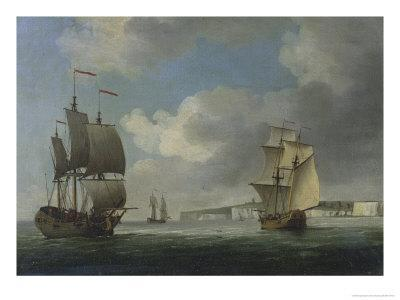 Shipping Off the South Coast of England