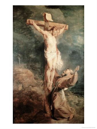 Saint Francis Before the Crucified Christ