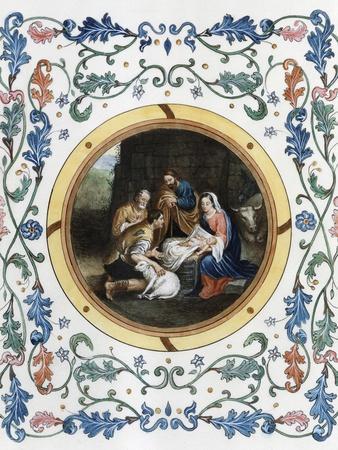 Nativity with Illuminated Border