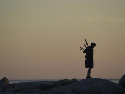 Bagpipe Player, Nova Scotia, Canada