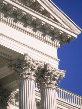 Detail of State Capitol Building, Sacramento, CA