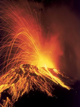 Volcanic Eruption, Arenal Volcano, Costa Rica