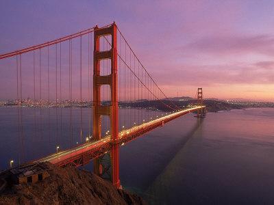 Golden Gate Bridge at Sunset, CA