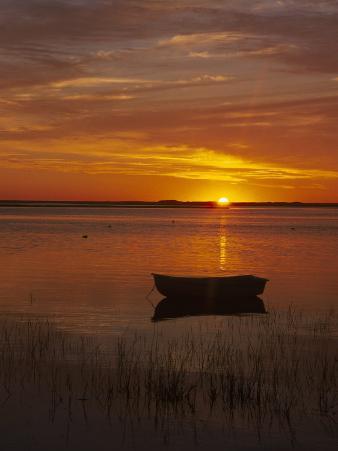 Boat & Cape Cod Sunset, MA