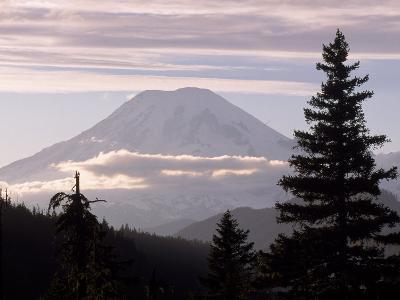 Mt. Rainier with Clouds, Mt. Rainier National Park, WA