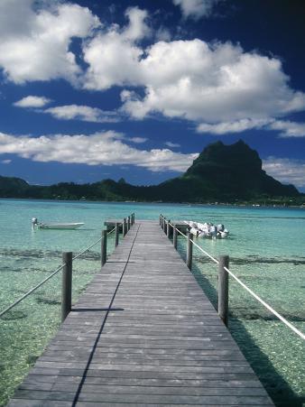 Scenic Dock off Motu Tapu, Bora Bora