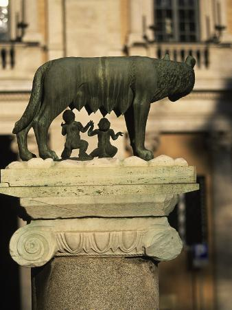 The Wolf with Romuls and Remus, Rome, Italy