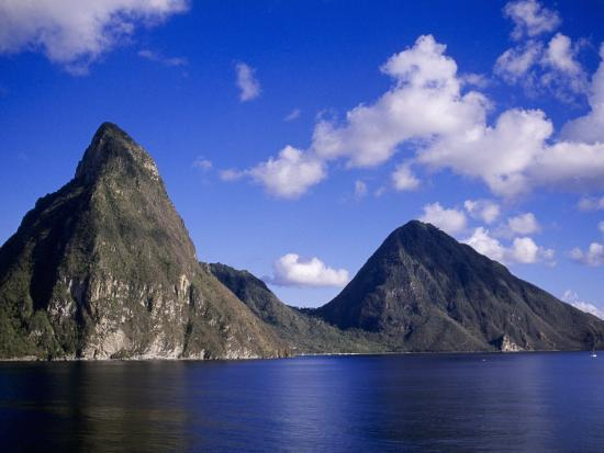 Explore The Beauty Of Caribbean: Pitons, St. Lucia Photographic Print By Timothy O'Keefe At