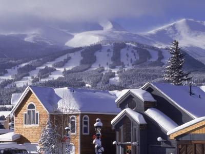 Town with Ski Area in Background, Breckenridge, CO