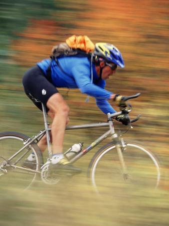 Mountain Biker in Motion, Vail, CO