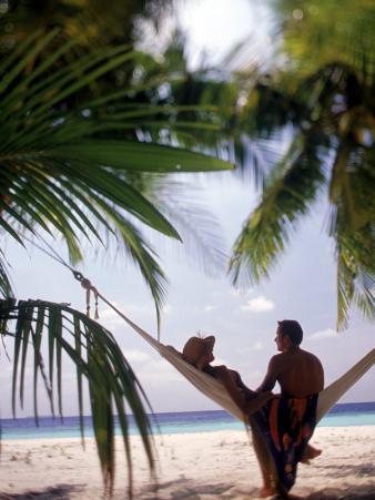 Silhouetted Couple, Felidu Atoll, Maldives