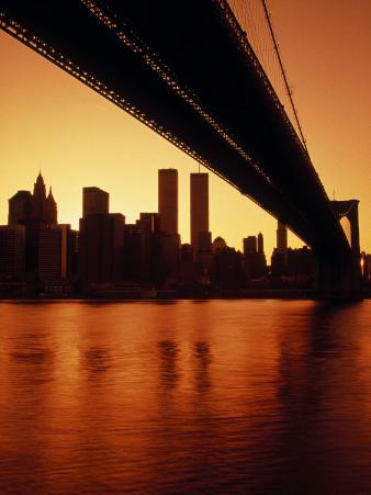 Brooklyn Bridge & Ny Skyline