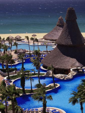 Swimming Pool and Palapas, Cabo San Lucas, Mexico