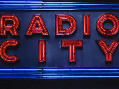 Sign for Radio City Music Hall, NYC