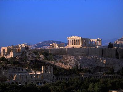 Parthenon from Filopapou at Dusk, Athens, Greece