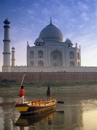 Gondola in Front of Taj Mahal, Agra, India