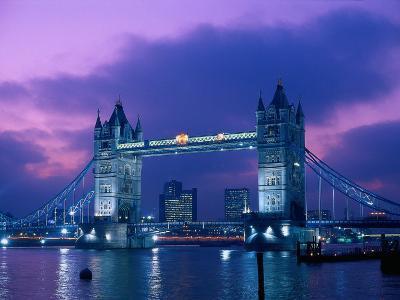 Tower Bridge at Night, London, Eng
