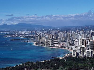 Aerial View of Oahu, Honolulu, HI