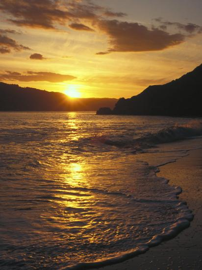 Sunset Over Beach Angel Island