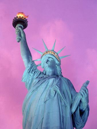 Statue of Liberty with Purple Sky, NYC