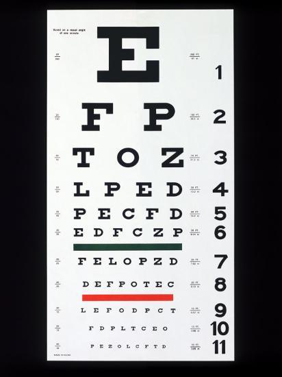 Eye Chart Photographic Print By Chuck Carlton At Allposters