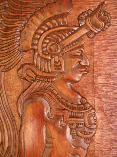 Mayan Wood Carving Gales Point Belize Photographic Print