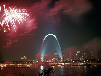 Fireworks Over St. Louis Arch, MO