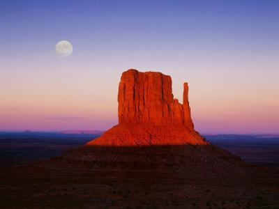 Moon Over Monument Valley, Arizona