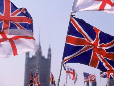 Union Jack And Other Flags London England Photographic