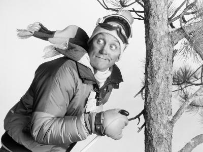 Skier Running Into Tree